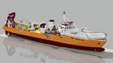 Submarine Rescue Vessel - Yết kiêu, Vietnam People's Navy Minecraft Map & Project