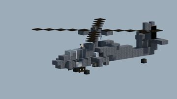 Boeing ah-64 apache helicopter [With Download} Minecraft Map & Project