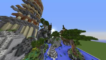 Mountain valley over the sea | Plots - 08 Minecraft Map & Project