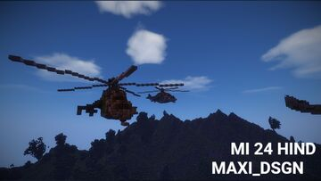 Mi 24 hind in Afghanistan Minecraft Map & Project