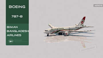 Boeing 787-8 Biman Bangladesh Airlines [+Download] Minecraft Map & Project