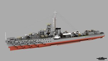 HMS Javelin 1:1 Scale Minecraft Map & Project