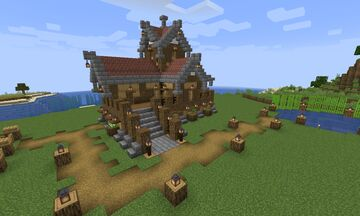 Simple House for Survival Minecraft Minecraft Map & Project
