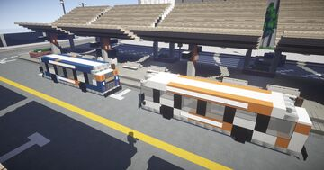 1.5:1 Scale GM New Look Bus, North American transit bus Minecraft Map & Project