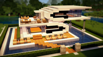 Beach Pool House Minecraft Map & Project