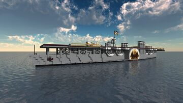 Fictional Imperial Aircraft Carrier - Lotharingien - For Wooouh Minecraft Map & Project