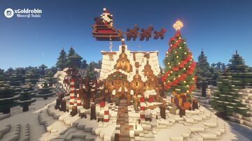 Goldrobin's Mansion - X-MAS Editon Minecraft Map & Project