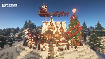 Goldrobin's Mansion - X-MAS Editon Minecraft Map & Project
