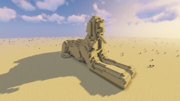 Egyptian Sandstone Sphinx Statue Minecraft Map & Project