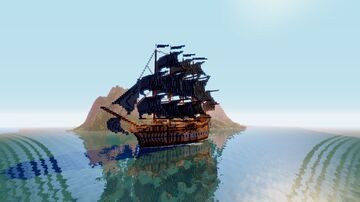 The Red Raven Galleon Minecraft Map & Project