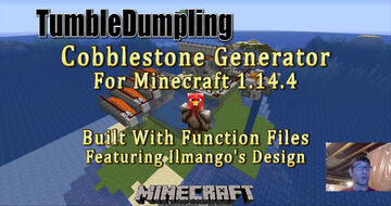 Cobblestone Generator for Minecraft 1.14.4 (Uses Function Files) Minecraft Map & Project