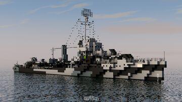USS Mahan (DD-364) Minecraft Map & Project