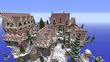 Christmas Gingerbread town Minecraft Map & Project