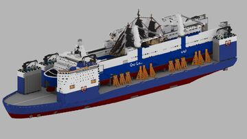 Heavy-lift ship - ST. Diiaxog + download Minecraft Map & Project