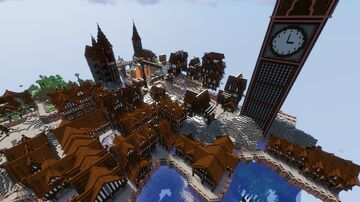 Medieval town Minecraft Map & Project