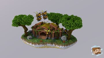Floating Jungle Bee Spawn [125x175] Minecraft Map & Project