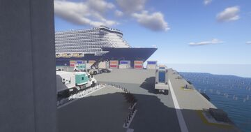 1.5:1 Kenworth Fleet and 1.75:1 Kalmar RT240 Container Handler on the docks of Andea Minecraft Map & Project