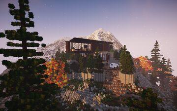Modern Mountain House    BPN SERVER Minecraft Map & Project