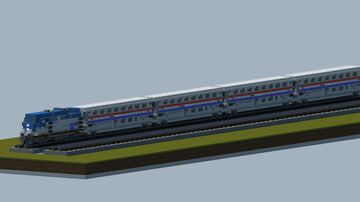Amtrak passenger train [With full interior, and download] Minecraft Map & Project