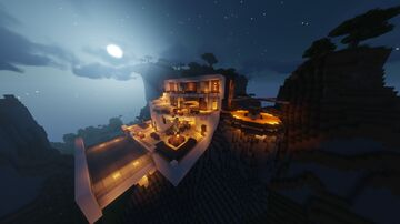 Modern Cliff Mansion [DECORATED COMING SOON!] Minecraft Map & Project