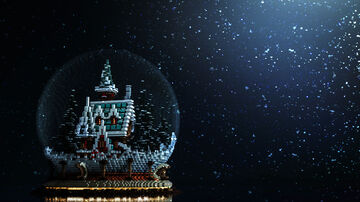 christmas crystal ball Minecraft Map & Project