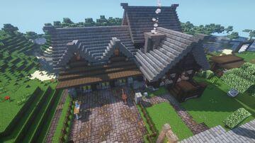 Medieval Horse Stables // Mittelalterlicher Pferdestall Minecraft Map & Project