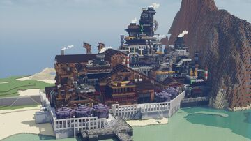 Rusted factory by the sea #懐草(natsu kusa) Minecraft Map & Project