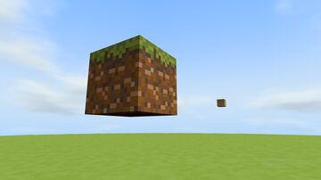 Grass Block 32x32 Bedrock Minecraft Map & Project