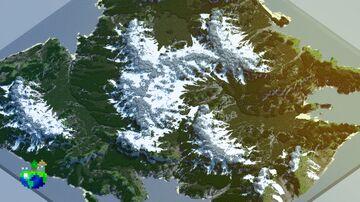 🌍 2k&4k Custom Winter Terrain  - Bomrosion Minecraft Map & Project
