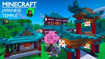 Minecraft Tutorial: Japanese Temple [DOWNLOAD] Minecraft Map & Project