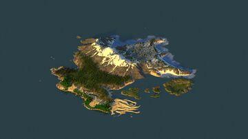 Jeneros Region - 2k by 2k Custom Terrain Minecraft Map & Project