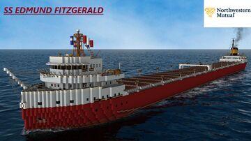 SS EDMUND FITZGERALD 1972 [FULL INTERIOR] Minecraft Map & Project