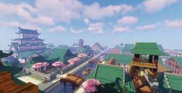 Ogata, Japanese Town and Castle Minecraft Map & Project