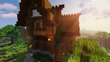 Medieval House / Casa Medieval (Tutorial en Youtube) Minecraft Map & Project