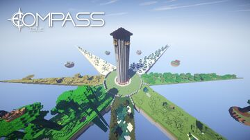 Compass Isle - A Survival-Adventure Sky Island Map Minecraft Map & Project