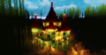 Underwater Medieval Build - Ravine Village & Medival Castle Minecraft Map & Project