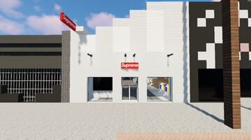 Supreme los Angeles Store In Minecraft. (1.14.4) Minecraft Map & Project