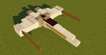 Incom T-65 X-wing Minecraft Map & Project