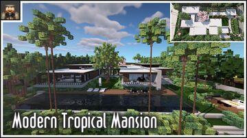 Minecraft Showcase - Modern Tropical Mansion Minecraft Map & Project