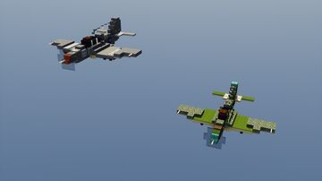 P-400 and P-39 Airacobra - 1.5:1 Minecraft Map & Project