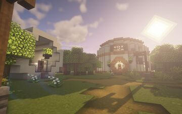 my town square! (court, bank, town hall) Minecraft Map & Project