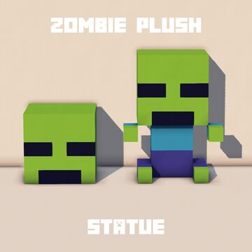 ~ Zombie Plush Statue ~ Minecraft Map & Project