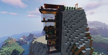 Cliff hang house Minecraft Map & Project