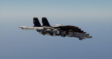 F14b Tomcat 1.5:1 scale Minecraft Map & Project