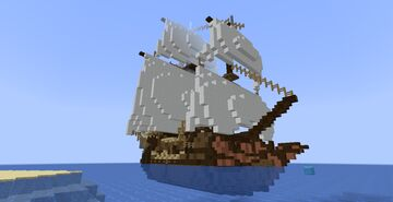 ship on middle-age / fantasy map Minecraft Map & Project