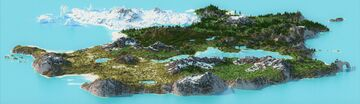 Natura Island [3000 x 3000 Custom Terrain] Minecraft Map & Project