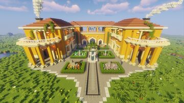 Minecraft Mediterranean Villa Minecraft Map & Project