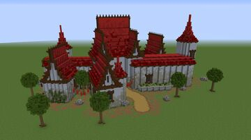 Castle/mansion stone thing whatever you wanna call it. Minecraft Map & Project