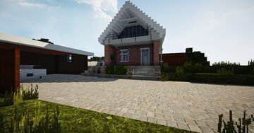 Danish 70's 2-story house | TRS | Rosenparken 37, 9240 Nibe Minecraft Map & Project