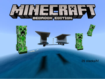 Affordable, Efficient and Advanced Creeper Only Farm for Minecraft Bedrock Edition Minecraft Map & Project